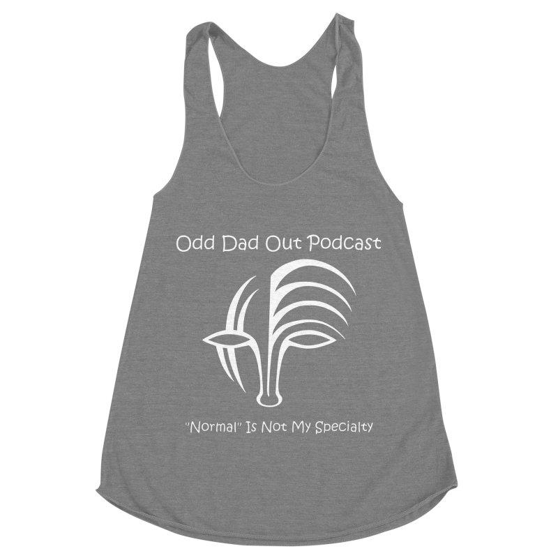 ODO Logo (white) Women's Racerback Triblend Tank by Odd Dad Out Shop