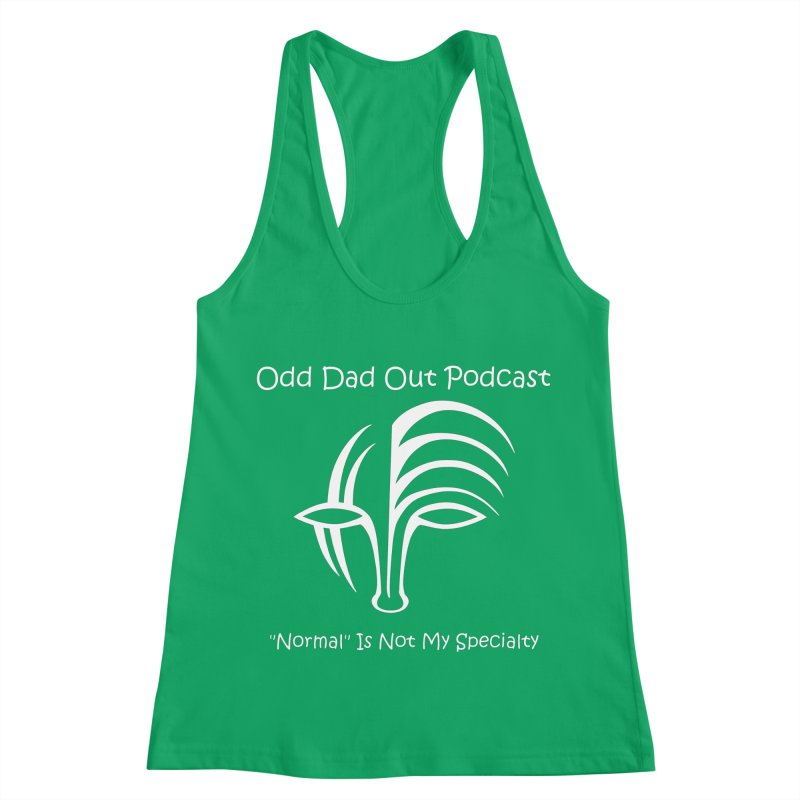 ODO Logo (white) Women's Racerback Tank by Odd Dad Out Shop