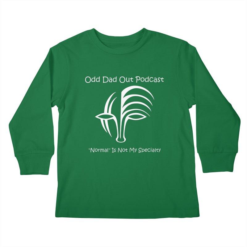 ODO Logo (white) Kids Longsleeve T-Shirt by Odd Dad Out Shop