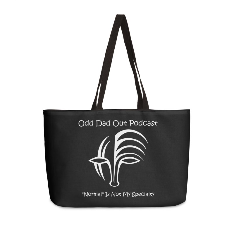 ODO Logo (white) Accessories Weekender Bag Bag by Odd Dad Out Shop