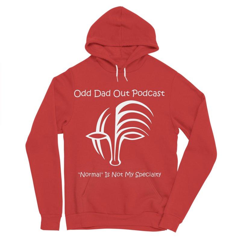 ODO Logo (white) Men's Sponge Fleece Pullover Hoody by Odd Dad Out Podcast Gear