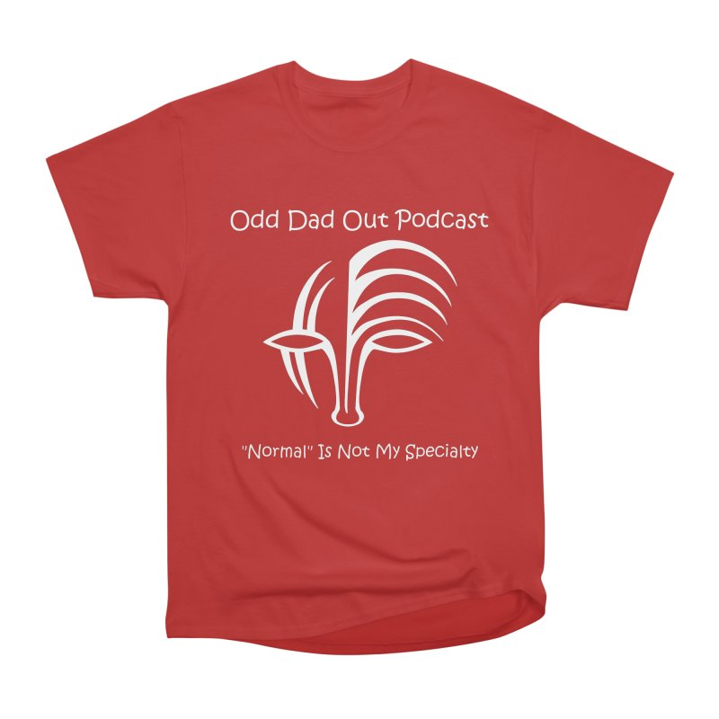 ODO Logo (white) Women's Heavyweight Unisex T-Shirt by Odd Dad Out Podcast Gear