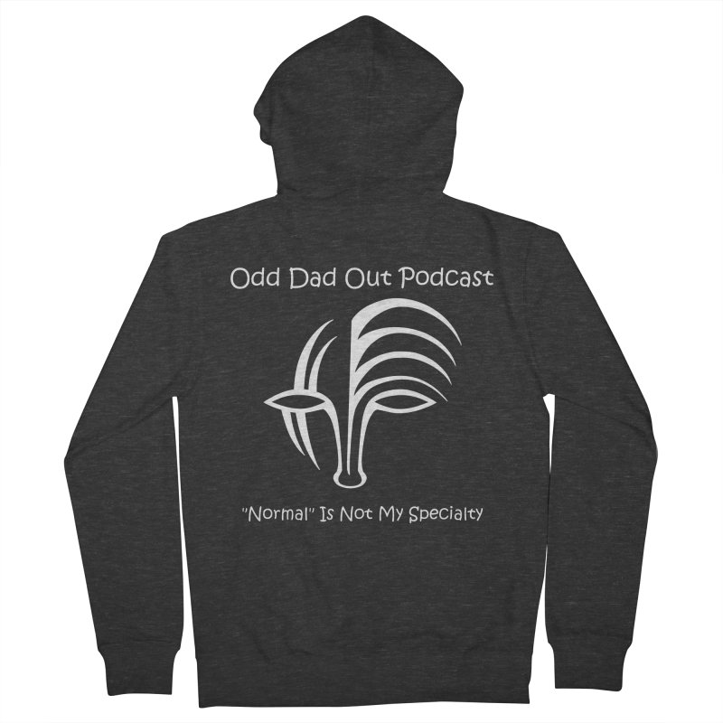 ODO Logo (white) Men's French Terry Zip-Up Hoody by Odd Dad Out Podcast Gear