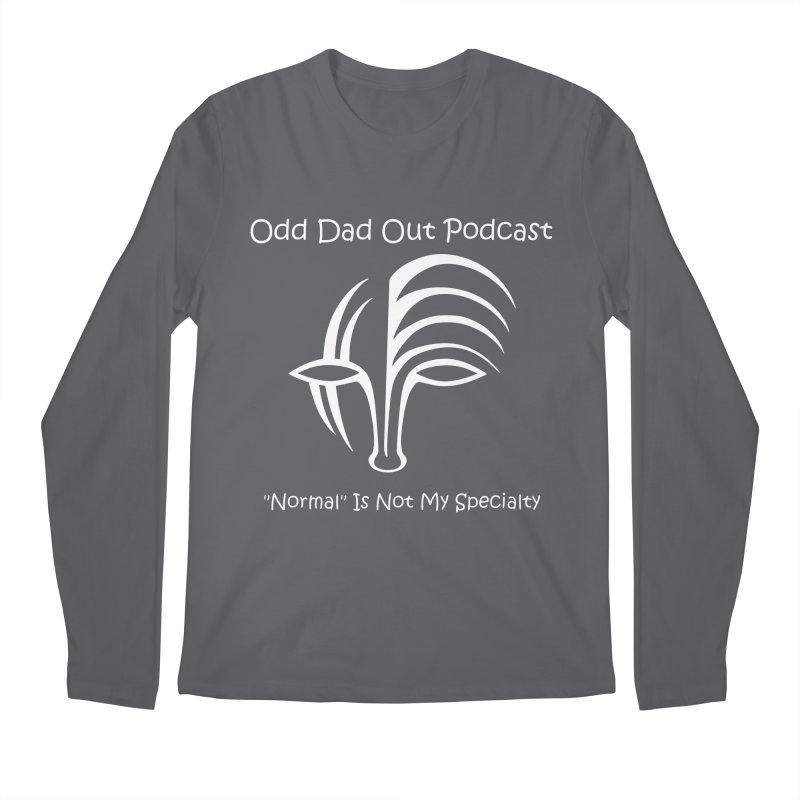 ODO Logo (white) Men's Regular Longsleeve T-Shirt by Odd Dad Out Podcast Gear