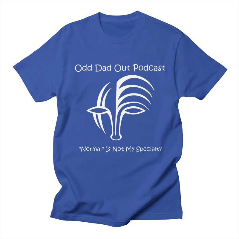 ODO Logo (white) Men's Regular T-Shirt by Odd Dad Out Podcast Gear