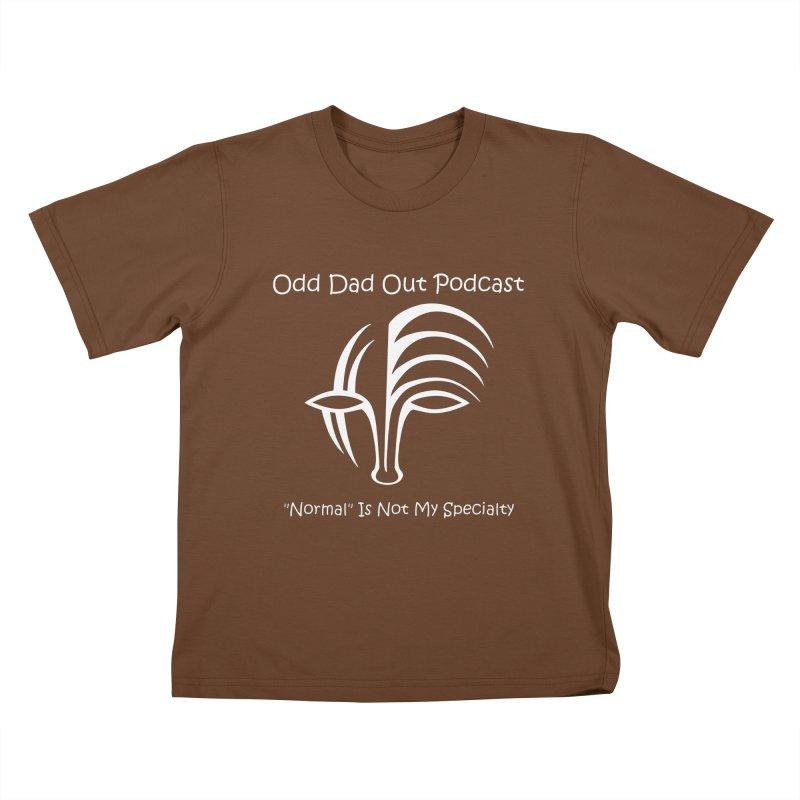 ODO Logo (white) Kids T-Shirt by Odd Dad Out Podcast Gear