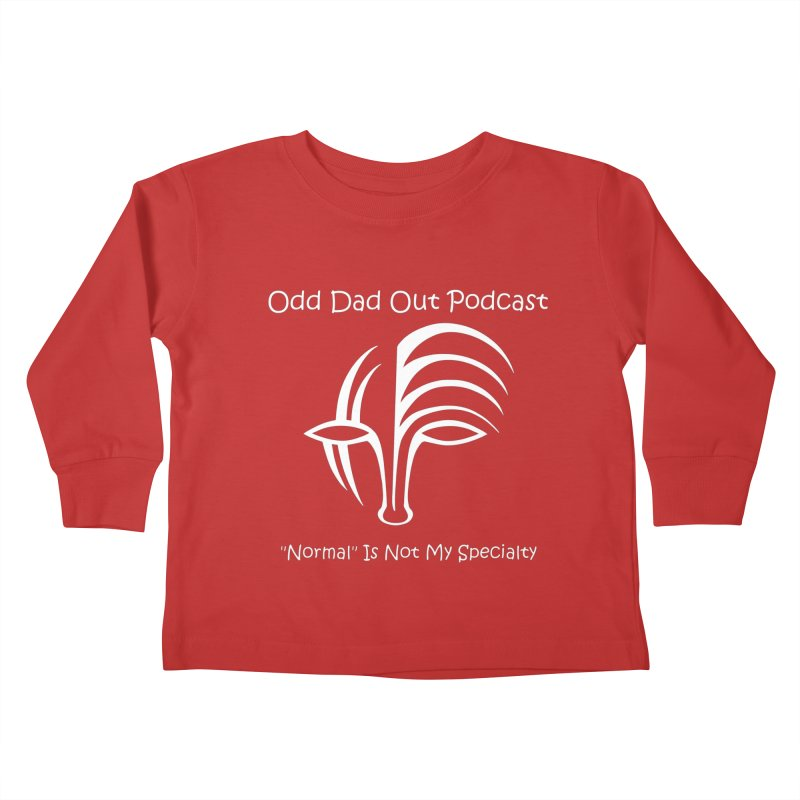 ODO Logo (white) Kids Toddler Longsleeve T-Shirt by Odd Dad Out Podcast Gear