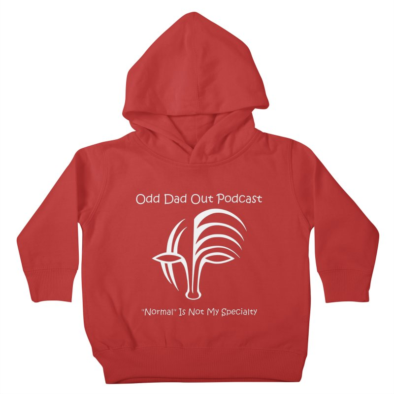 ODO Logo (white) Kids Toddler Pullover Hoody by Odd Dad Out Podcast Gear