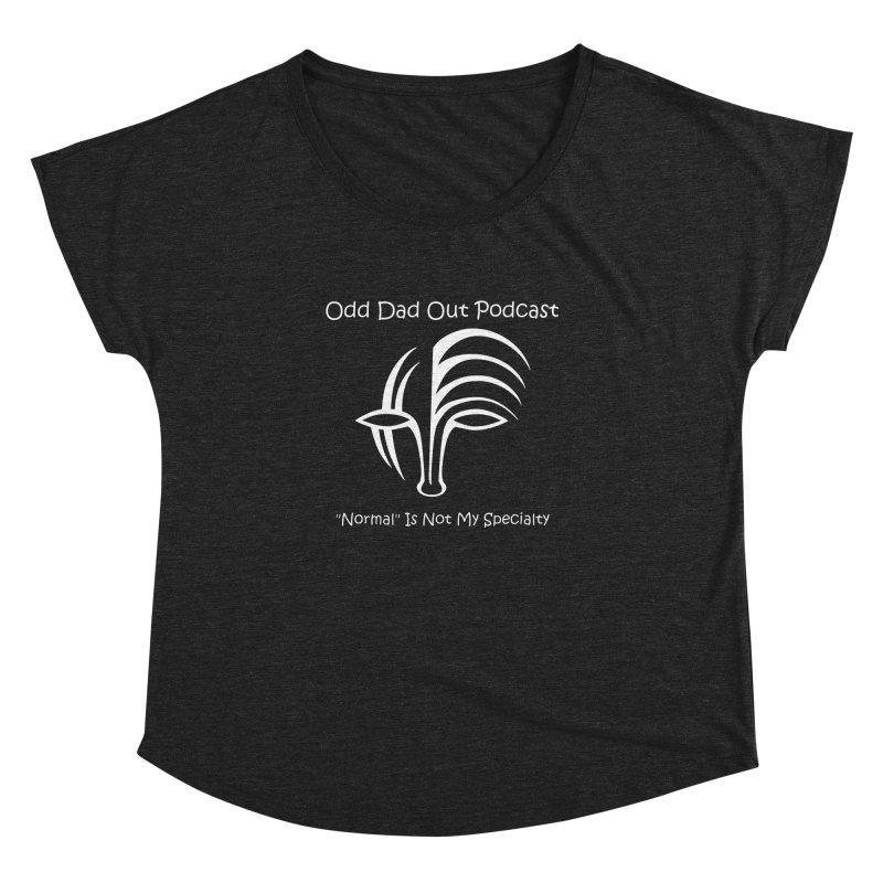 ODO Logo (white) Women's Dolman Scoop Neck by Odd Dad Out Podcast Gear