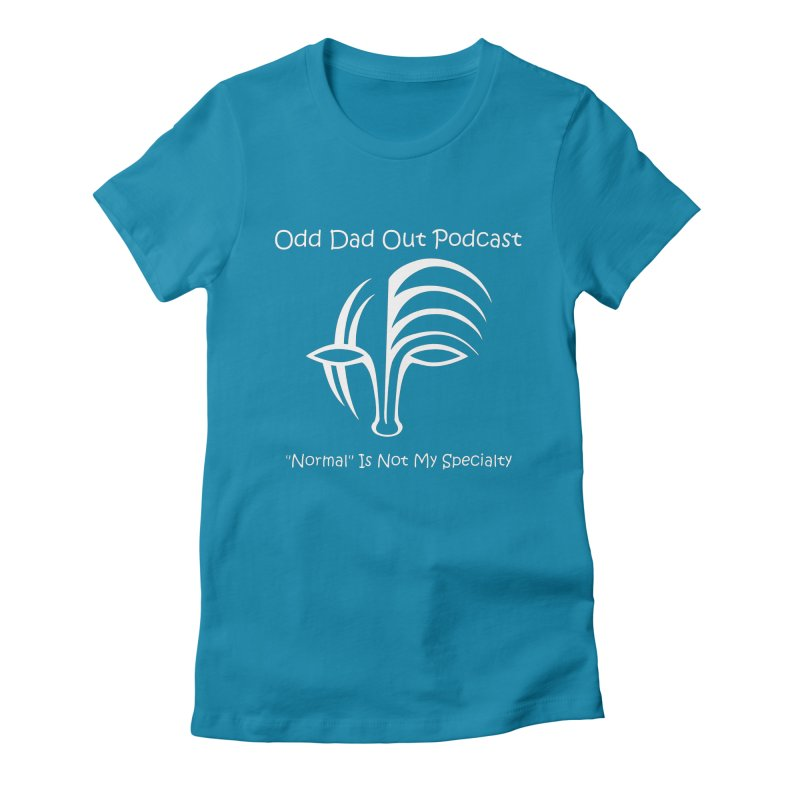ODO Logo (white) Women's Fitted T-Shirt by Odd Dad Out Podcast Gear