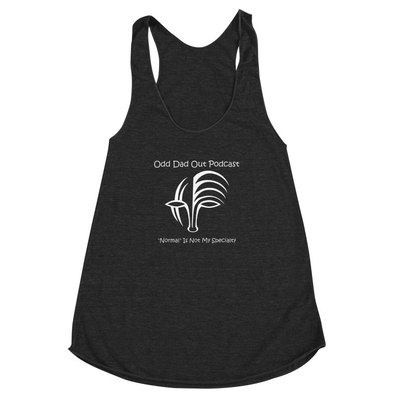 ODO Logo (white) Women's Racerback Triblend Tank by Odd Dad Out Podcast Gear