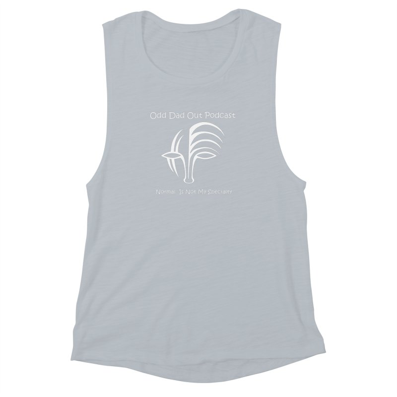 ODO Logo (white) Women's Muscle Tank by Odd Dad Out Podcast Gear