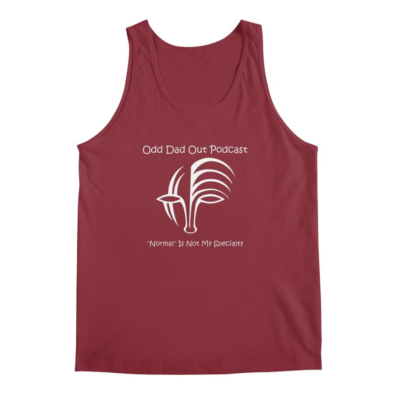 ODO Logo (white) Men's Regular Tank by Odd Dad Out Podcast Gear