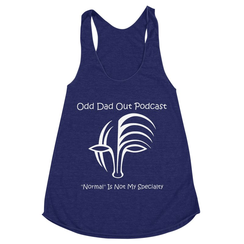 ODO Logo (white) Women's Racerback Triblend Tank by Odd Dad Out Shop
