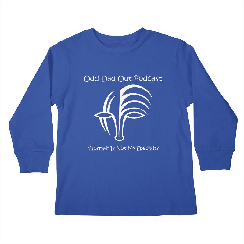ODO Logo (white) Kids Longsleeve T-Shirt by Odd Dad Out Podcast Gear