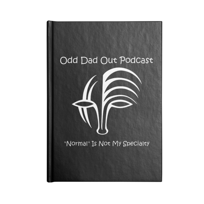 ODO Logo (white) Accessories Lined Journal Notebook by Odd Dad Out Shop