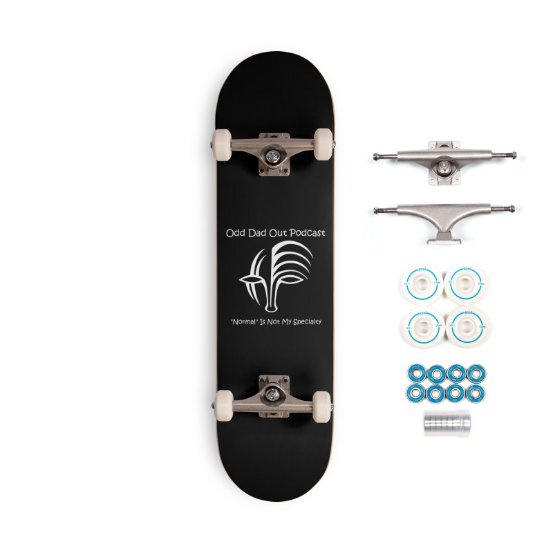 ODO Logo (white) Accessories Complete - Basic Skateboard by Odd Dad Out Shop