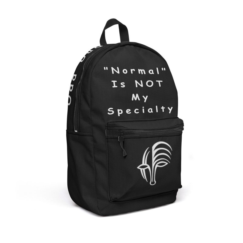 """Normal"" Is Not My Specialty (white) Accessories Backpack Bag by Odd Dad Out Shop"