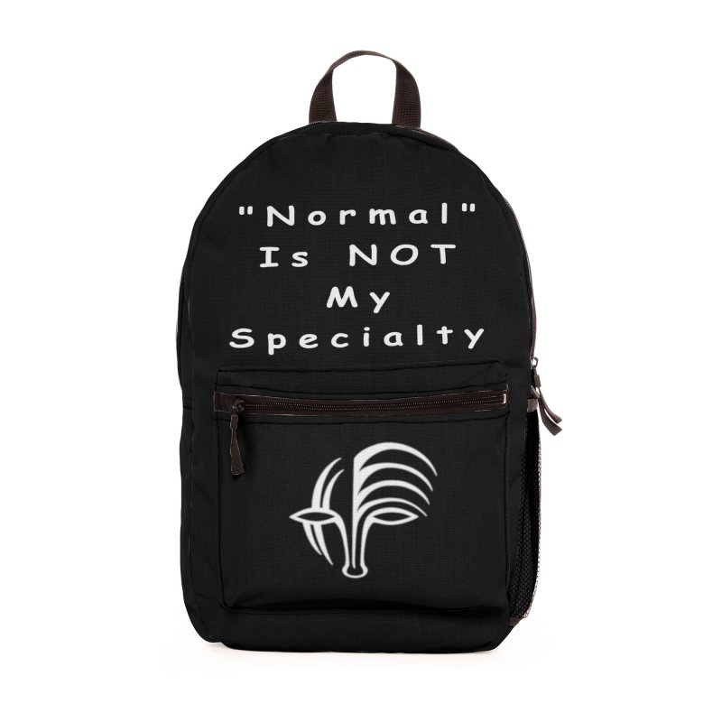 """Normal"" Is Not My Specialty (white) Accessories Bag by Odd Dad Out Shop"