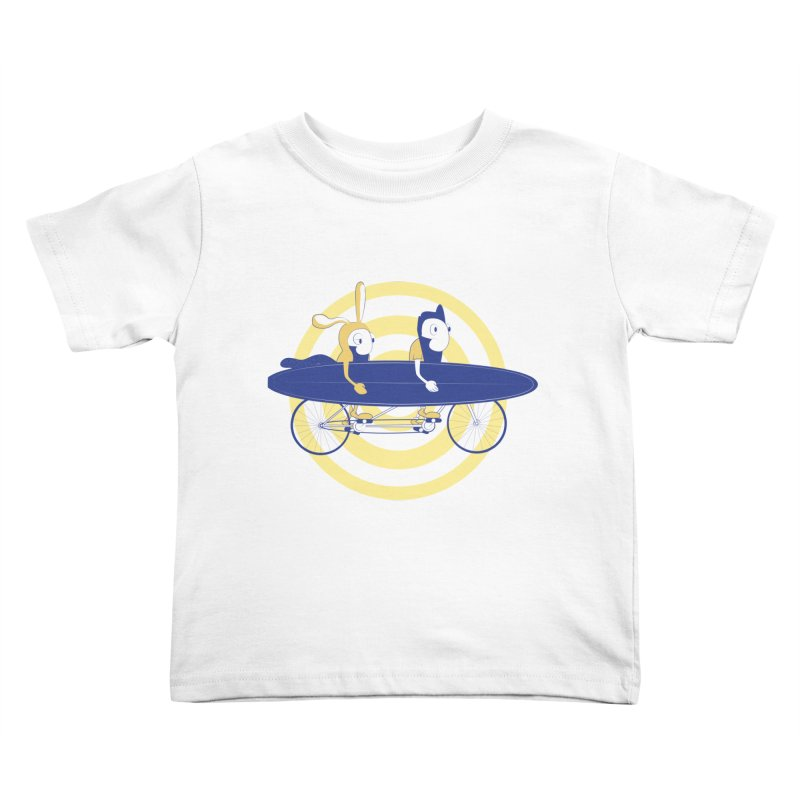 Gotta get to the surf brah! Kids Toddler T-Shirt by Oddesigners's Artist Shop