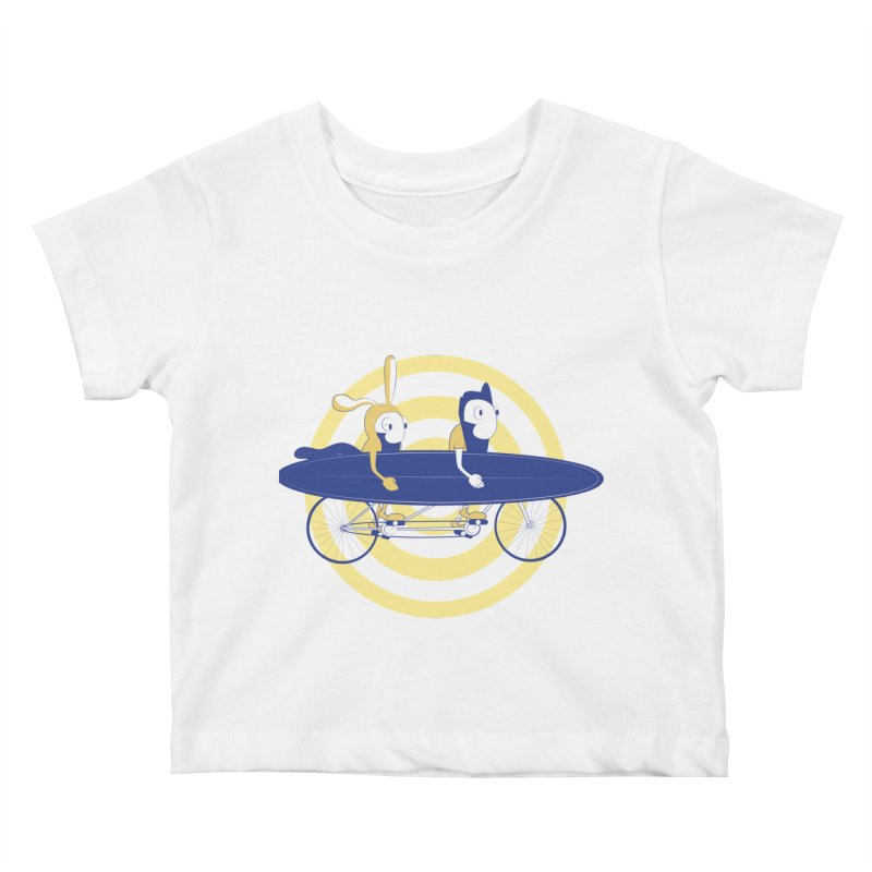 Gotta get to the surf brah! Kids Baby T-Shirt by Oddesigners's Artist Shop
