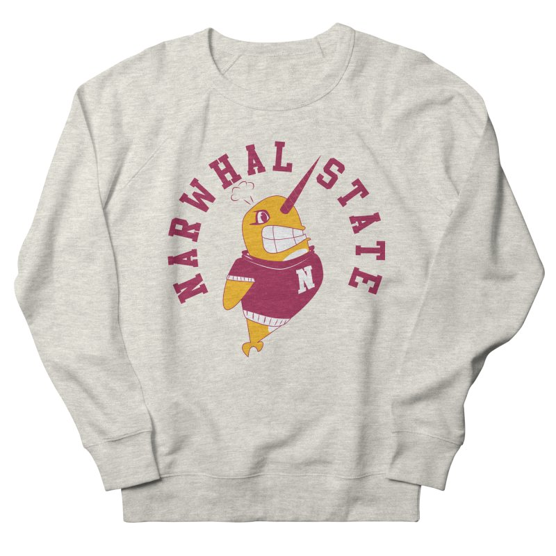 Narwhal State Women's French Terry Sweatshirt by Oddesigners's Artist Shop