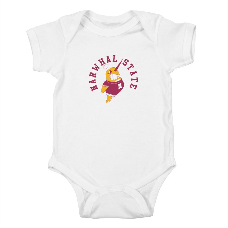 Narwhal State Kids Baby Bodysuit by Oddesigners's Artist Shop