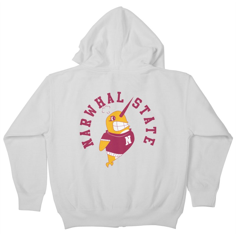Narwhal State Kids Zip-Up Hoody by Oddesigners's Artist Shop