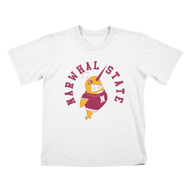 Narwhal State Kids T-Shirt by Oddesigners's Artist Shop
