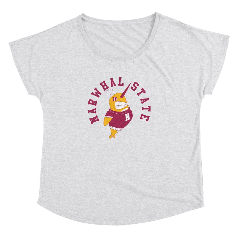 Narwhal State Women's Dolman Scoop Neck by Oddesigners's Artist Shop