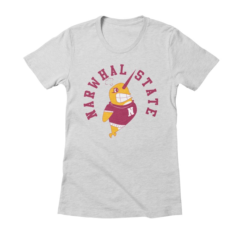 Narwhal State Women's Fitted T-Shirt by Oddesigners's Artist Shop