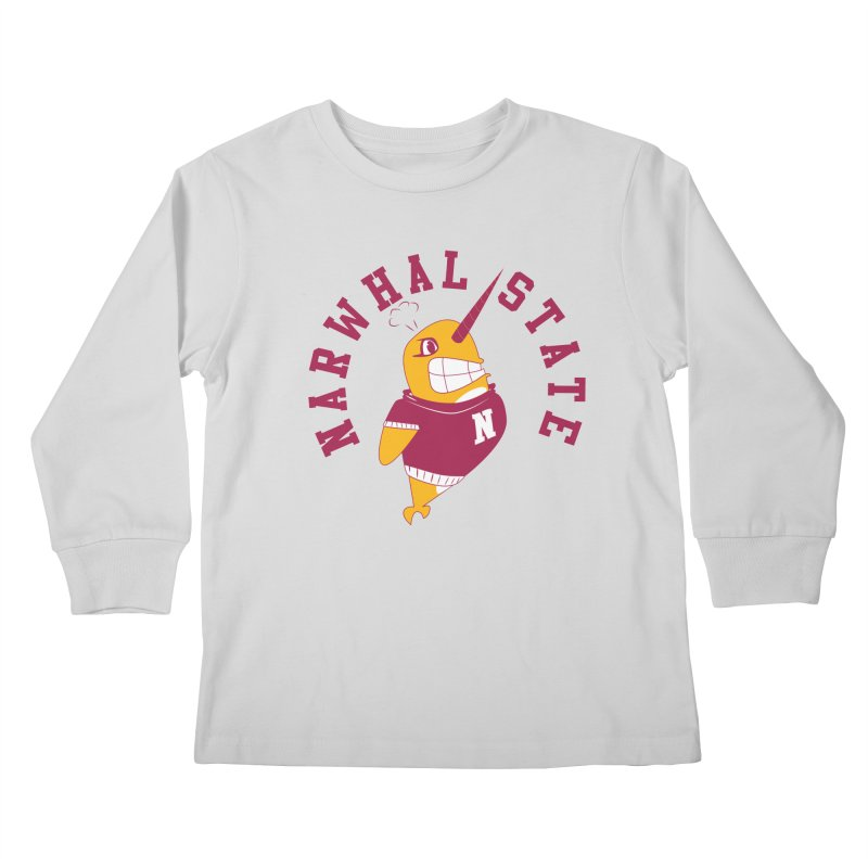 Narwhal State Kids Longsleeve T-Shirt by Oddesigners's Artist Shop