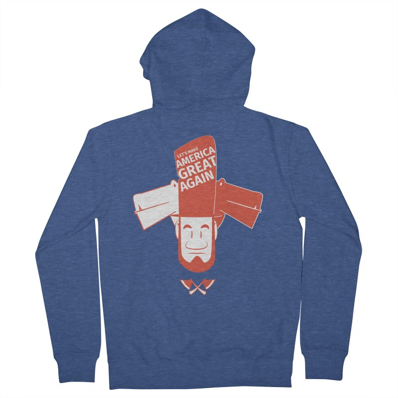 Let's make America GREAT AGAIN! Men's French Terry Zip-Up Hoody by Oddesigners's Artist Shop