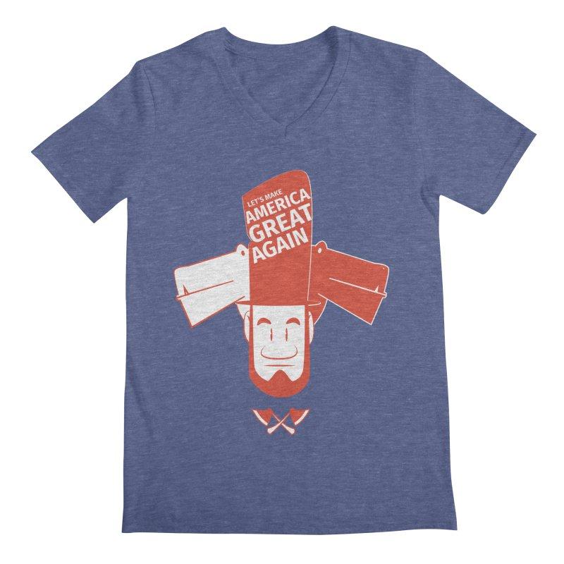 Let's make America GREAT AGAIN! Men's Regular V-Neck by Oddesigners's Artist Shop