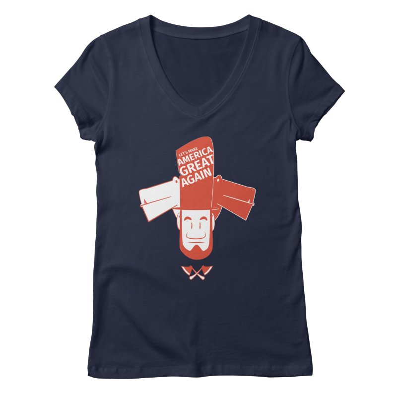 Let's make America GREAT AGAIN! Women's V-Neck by Oddesigners's Artist Shop