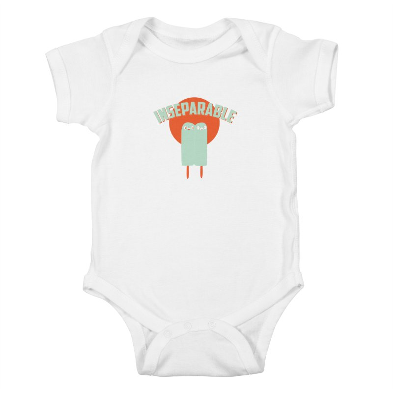 Inseparable! Kids Baby Bodysuit by Oddesigners's Artist Shop