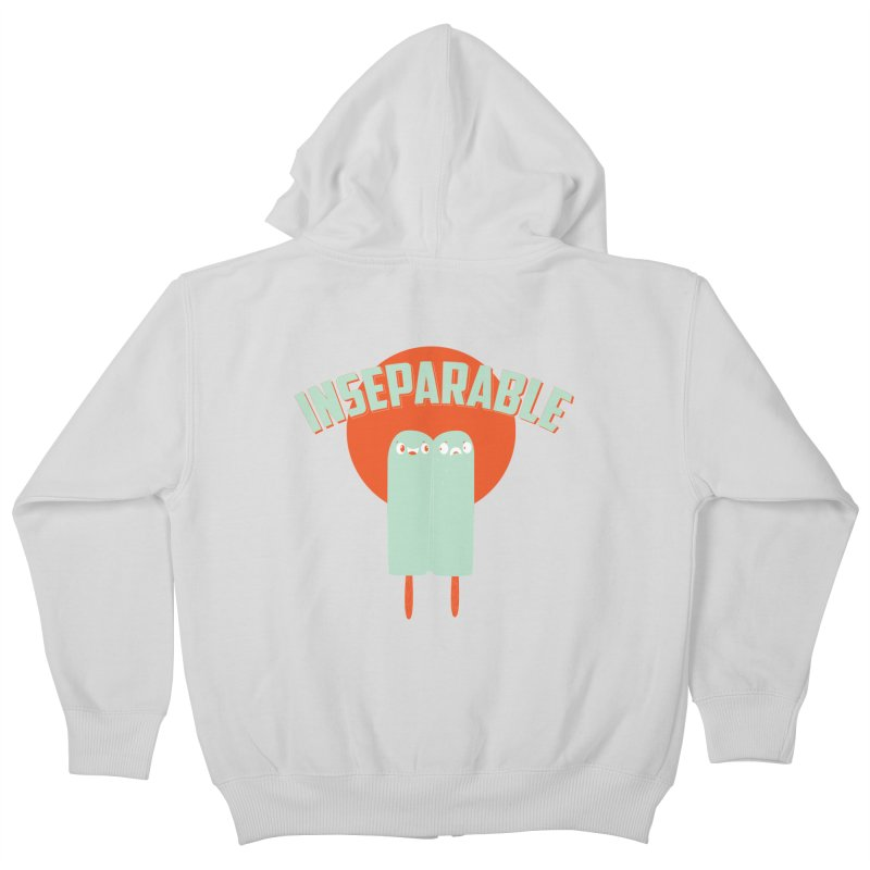 Inseparable! Kids Zip-Up Hoody by Oddesigners's Artist Shop