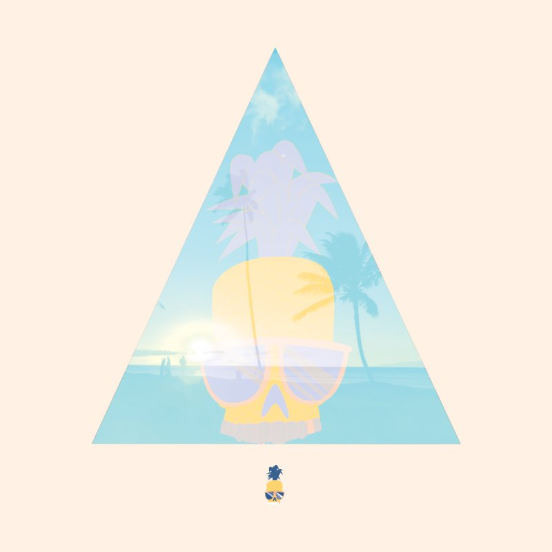Pineapple beach Kids T-shirt by Oddesigners's Artist Shop