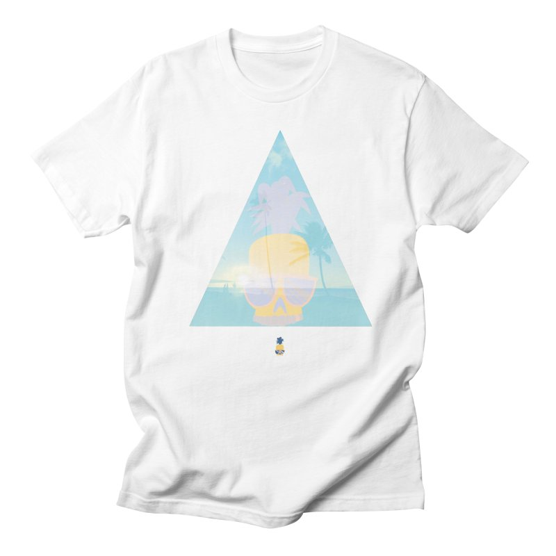 Pineapple beach in Men's Regular T-Shirt White by Oddesigners's Artist Shop
