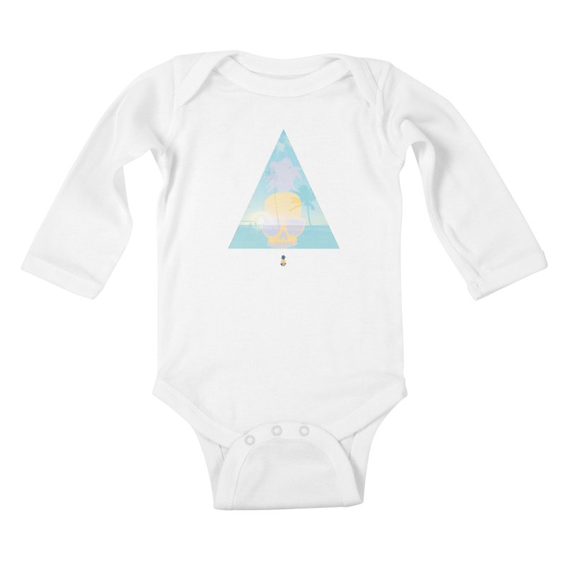 Pineapple beach Kids Baby Longsleeve Bodysuit by Oddesigners's Artist Shop
