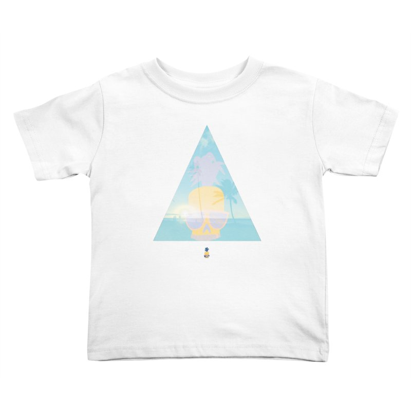 Pineapple beach Kids Toddler T-Shirt by Oddesigners's Artist Shop