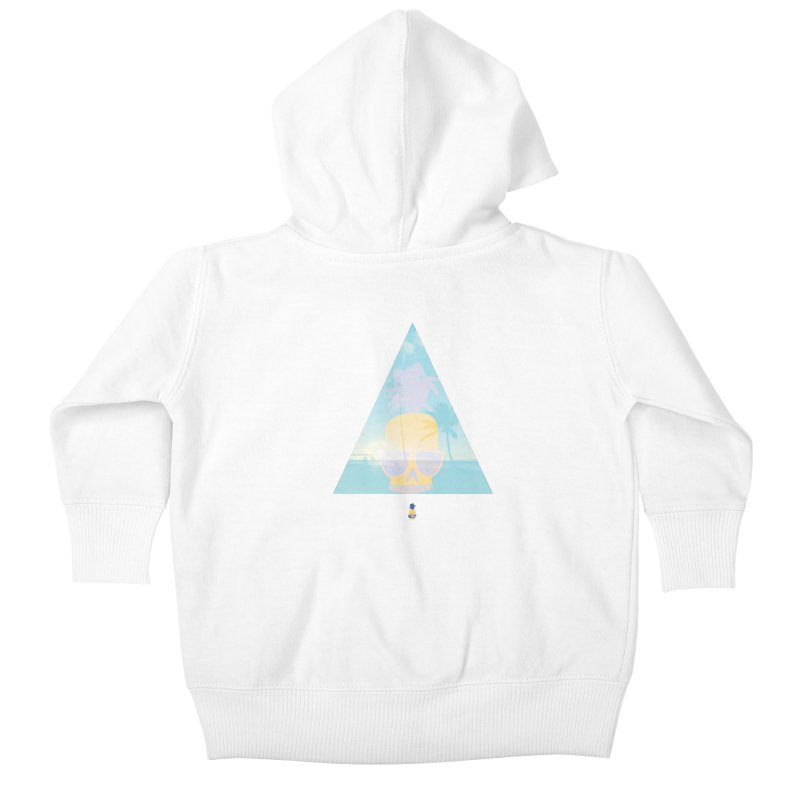 Pineapple beach Kids Baby Zip-Up Hoody by Oddesigners's Artist Shop