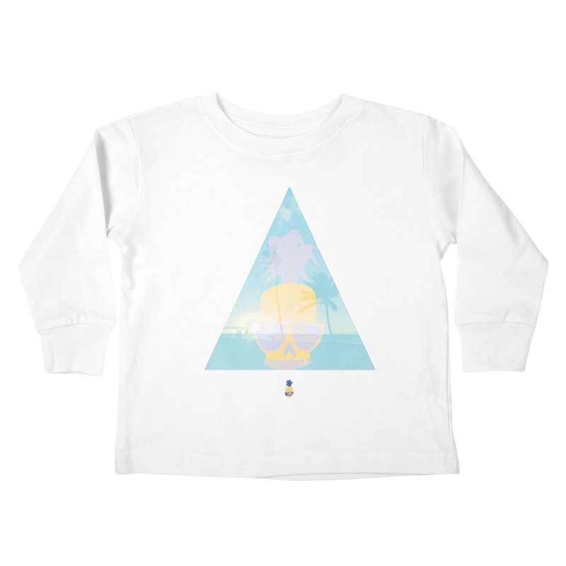 Pineapple beach Kids Toddler Longsleeve T-Shirt by Oddesigners's Artist Shop