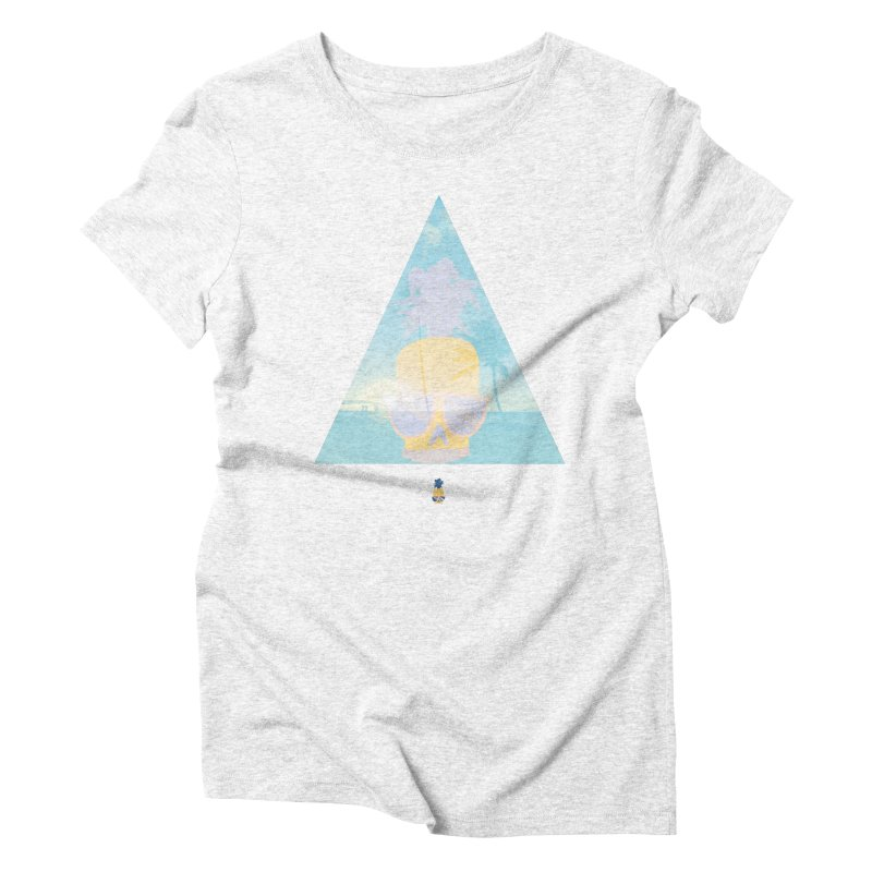Pineapple beach Women's Triblend T-shirt by Oddesigners's Artist Shop