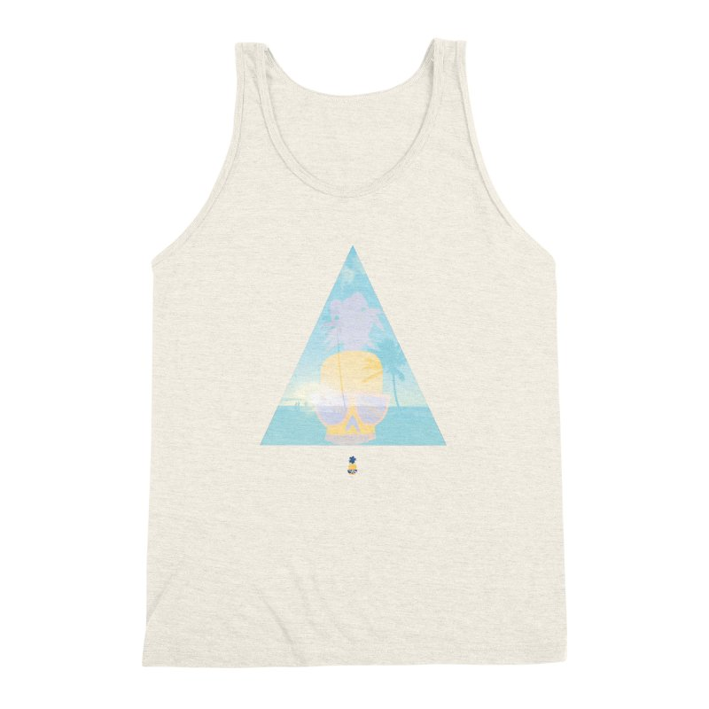 Pineapple beach Men's Triblend Tank by Oddesigners's Artist Shop