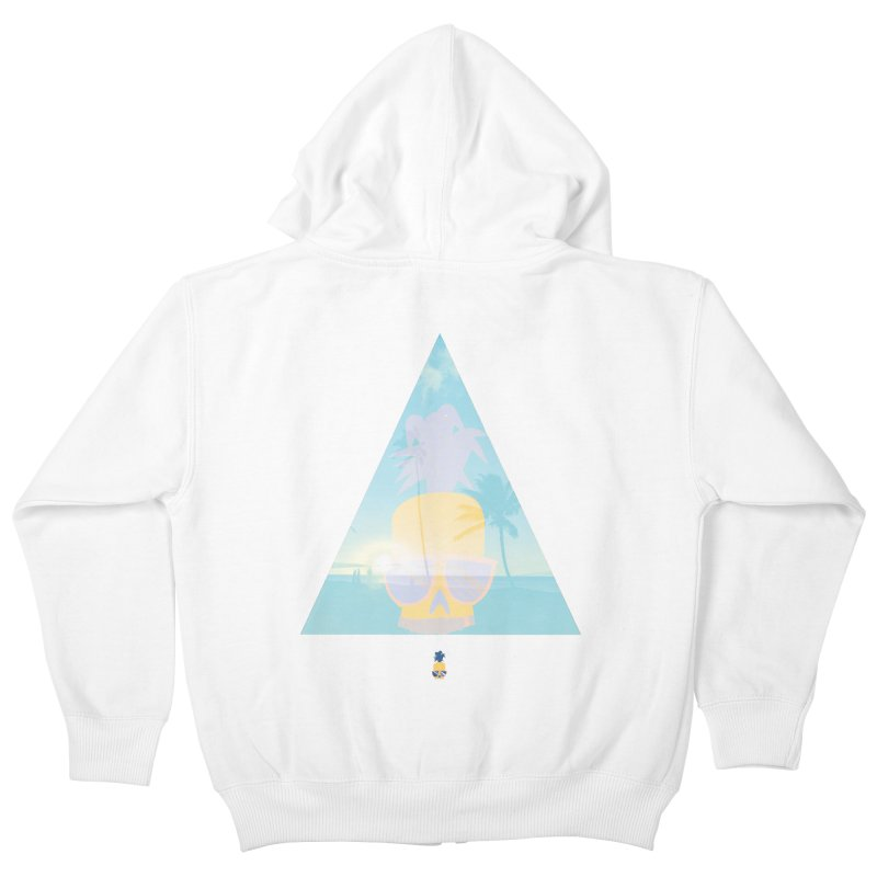 Pineapple beach Kids Zip-Up Hoody by Oddesigners's Artist Shop