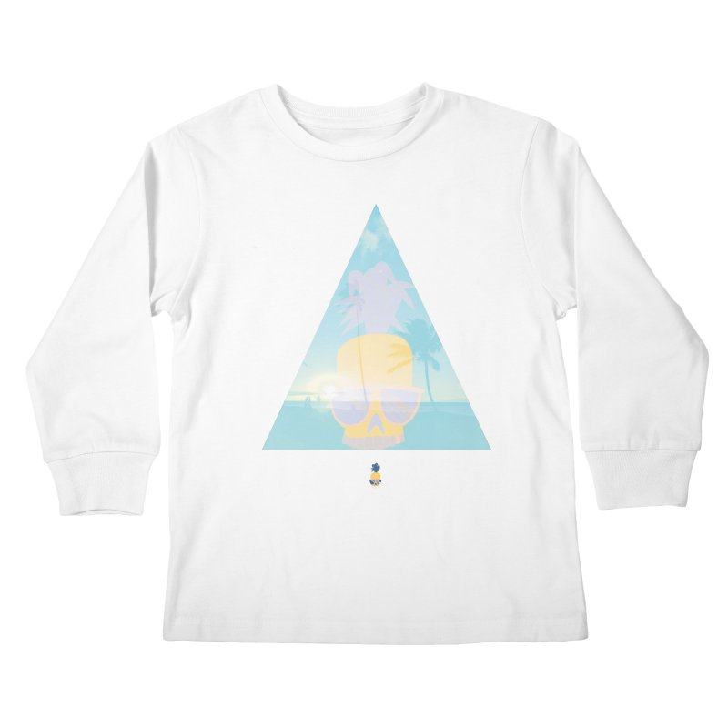 Pineapple beach Kids Longsleeve T-Shirt by Oddesigners's Artist Shop