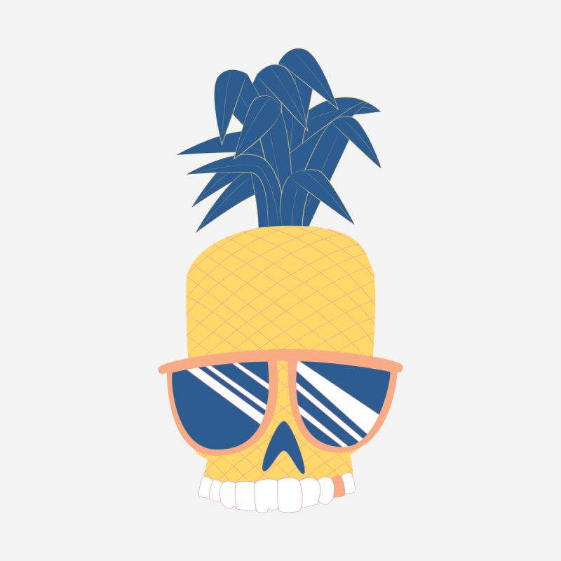 Pineapple Skull w/ sunglasses Men's T-shirt by Oddesigners's Artist Shop