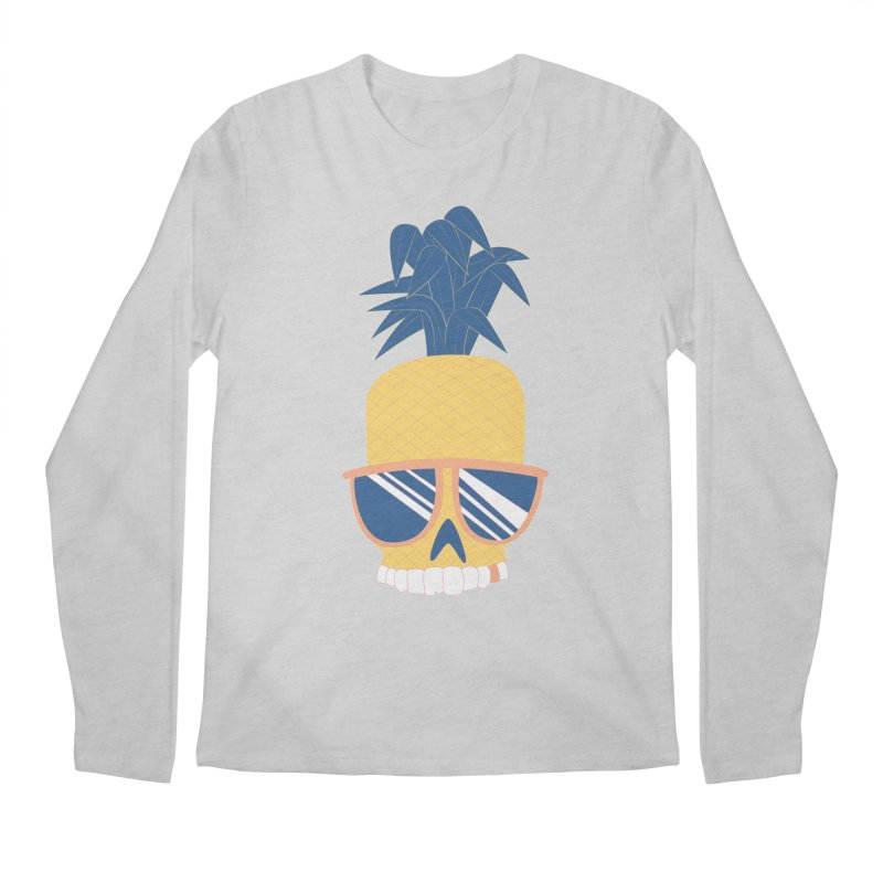 Pineapple Skull w/ sunglasses Men's Longsleeve T-Shirt by Oddesigners's Artist Shop