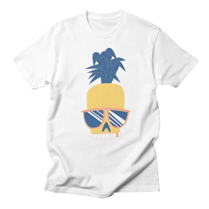 Pineapple Skull w/ sunglasses Women's Unisex T-Shirt by Oddesigners's Artist Shop